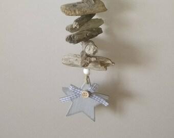 Driftwood wreath star