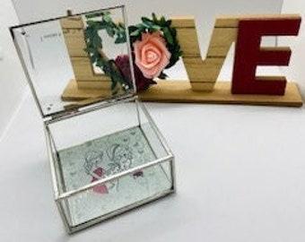 Bridesmaid Wedding Keepsake Box, Friend, Wedding Party