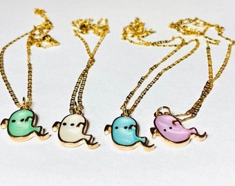 Necklace #Halloween #Ghost #Different colors #Blue #Purple #White #Green
