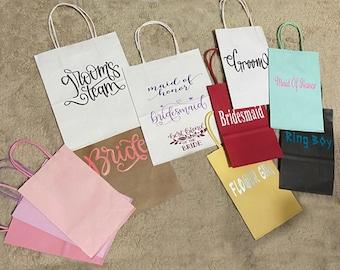 Custom #Gift #Bags Wedding Gift Bags #Bridesmaids Bags #Groom Gift Bag #Groomsman Gift Bag #Personalized Gift Bag #Paper Gift Bags
