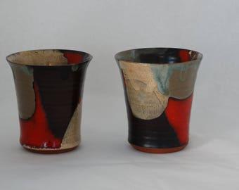 pair of ceramic mugs