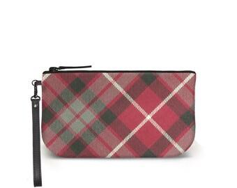 Fraser Red Tartan Clutch Bag - Plaid Purse - 100% Wool a9282e2e8
