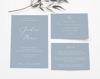 Slate Blue Invite