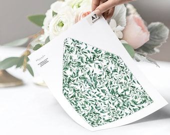 Printable Envelope Liner Template DIY Greenery Envelope Liner Wedding Envelope Liner Printable Wedding Template Envelope Liner