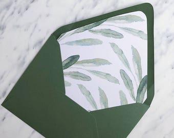 eucalyptus envelope liner template diy greenery envelope liner etsy