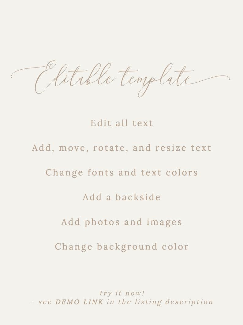 Wedding Program Template Printable Program Editable Wedding Program Instant Download Ceremony Template Program Fan Order of Service Template
