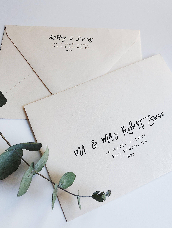 Wedding Envelope Template Address Envelope Template DIY