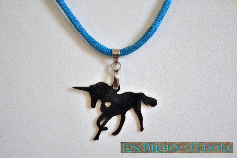 Unicorn or lizardsalamander Koala stainless steel pendant