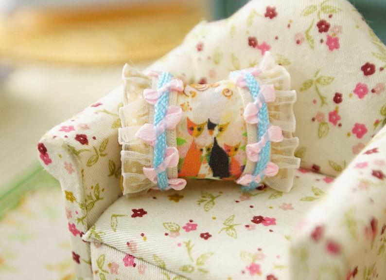 Cute Little Girl Miniature Pillow 1:12 Scale For Dollhouse