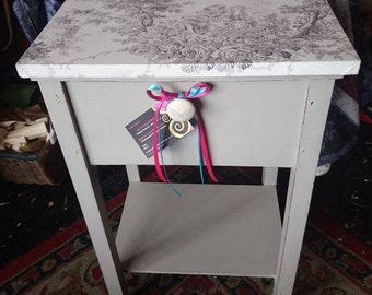 Handpainted shabby chic vintage sewing box...