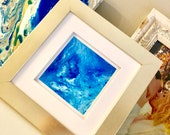 Small Acrylic Pour in Gold Frame