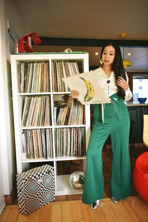 Vintage 1970s Disco Jumpsuit - image 3