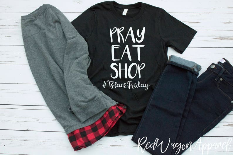 a53e1b9ef1ba Pray Eat Shop Unisex Jersey Short Sleeve T Shirt Black