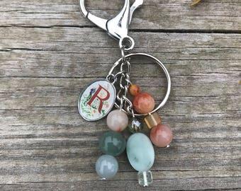 Bag Charm, Purse Charm, Handbag Charm, Beaded Keychain, Personalized Charm, Gift for Her, Beaded Bag Charm, Handbag Accessories, Wife Gift