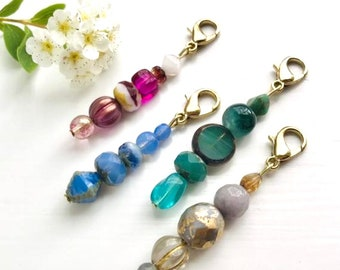 Beaded Zipper Charms  Set of 2