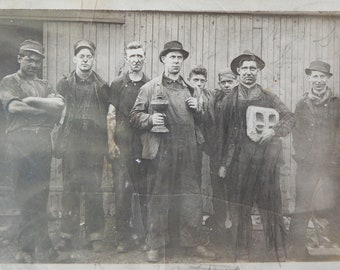 RPPC Crew of Men Proudly Standing for Group Photo.