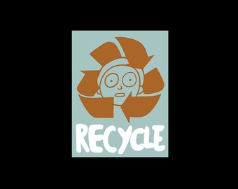 fedf96556fa3c Recycle your Mortys- Recycle Rick Sanchez Cartoon Back To The Future Marty  McFly