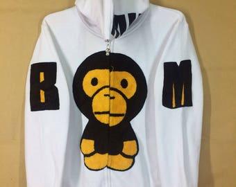 12a179ff8da5 Baby Milo Big Logo Zipper Hoodie Sweatshirt Medium Size