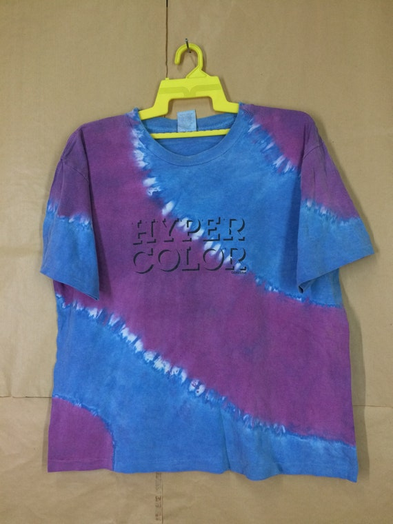 Vintage Hyper Color General Tye Dye T-Shirt Medium