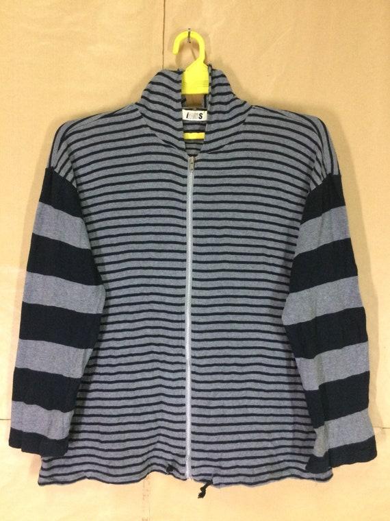 Rare!!! Issey Miyaki Stripe Zipper  Hoodies