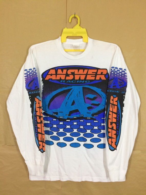 Vintage Answer Racing Long Sleeve T-shirt Large Si