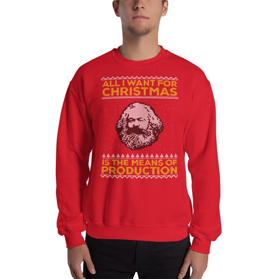 Karl Marx Ugly Christmas Sweater All I Want For Christmas | Etsy