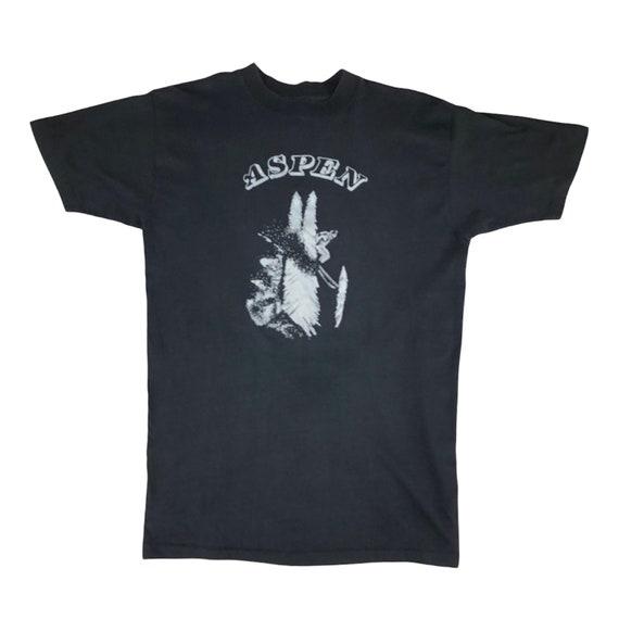 Vintage 1980s Aspen Skiing Tshirt