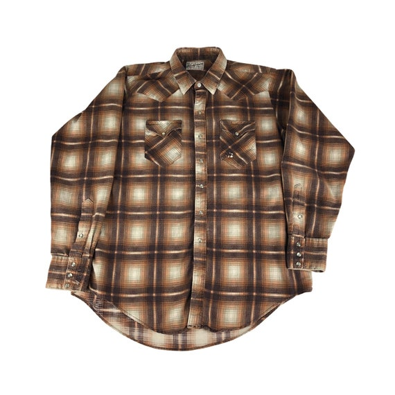 1970s Tru-West Rockmount Ranch Wear Flannel Wester