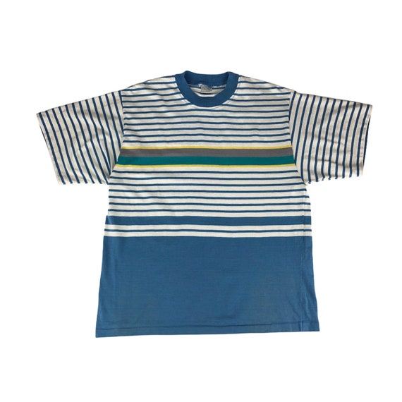 1980s Jantzen Striped Tshirt Made in USA