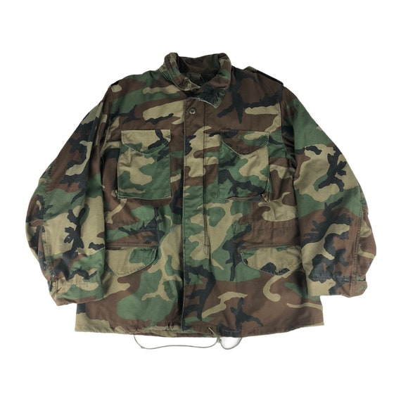 Vintage Woodlands Camo M65 Field Jacket