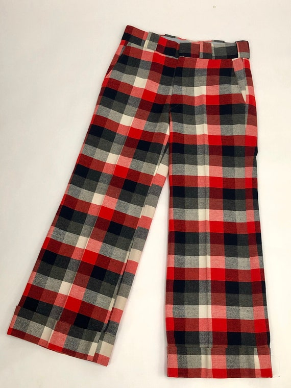 Vintage 1970s Plaid Checkered Pants