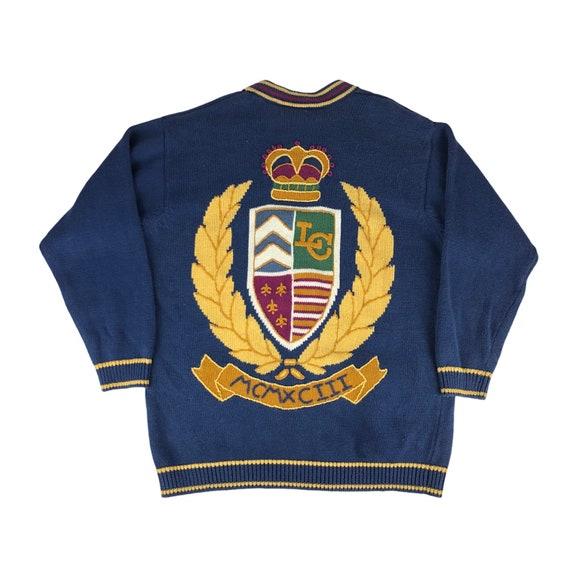 Vintage 1990s Liz Claiborne Liz Sport Crest Cardig