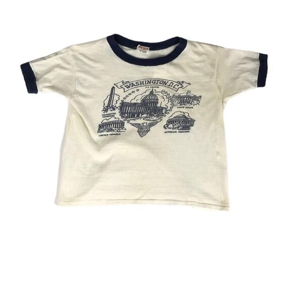 Vintage 1960s Washington D.C. Souvenir Tshirt Made