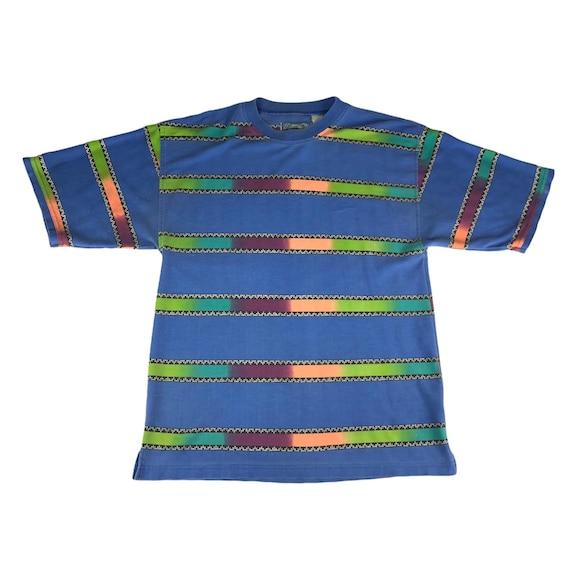 Vintage 1990s Saturdays Surf Brand Striped Tshirt