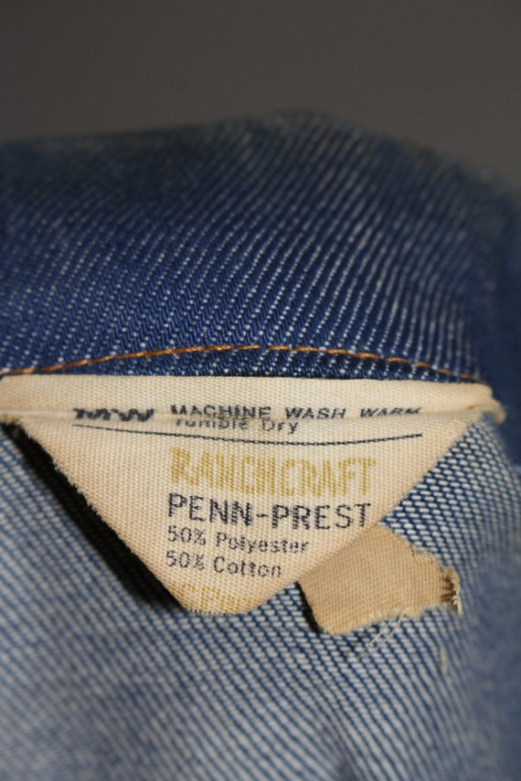 Vintage 1960s 1970s JC Penney Ranchcraft Denim Ja… - image 3