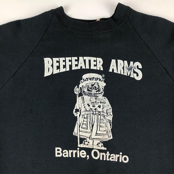 1990s Beefeater Arms Barrie Ontario Raglan Sweats… - image 4