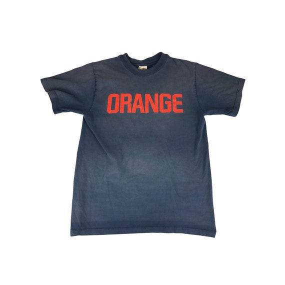 1990s Sunfaded Syracuse Orange Tshirt Made in USA