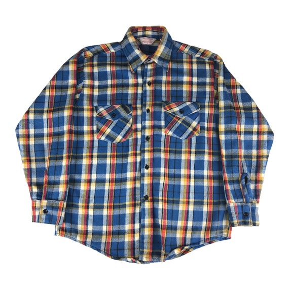 1970s Frostproof Sanforized Flannel Shirt Made in