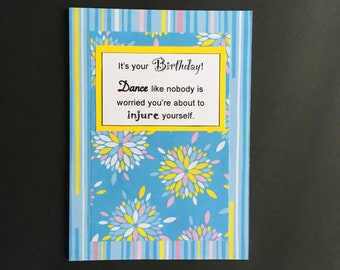 Birthday Dance card