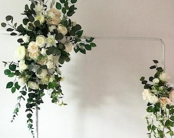 Wedding arch flowers etsy flower arch floral arch wedding arch flower swag floral swag arch swag wedding flower arch wedding flower arrangement silk flowers mightylinksfo