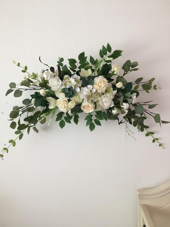 Bogen Blume Hochzeitsdeko Hochzeit Blumen Swag Etsy