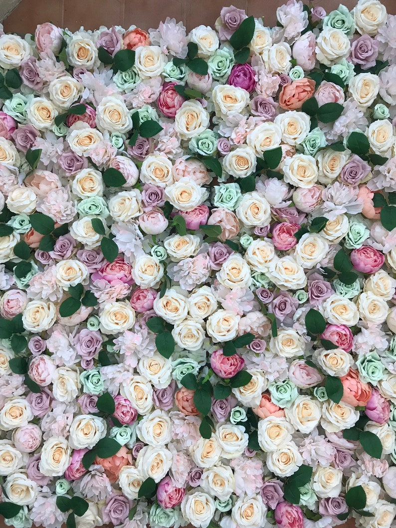 Floral Wall Flower wall Photography backdrop Floral Backdrop Flower backdrop Nursery wall decor