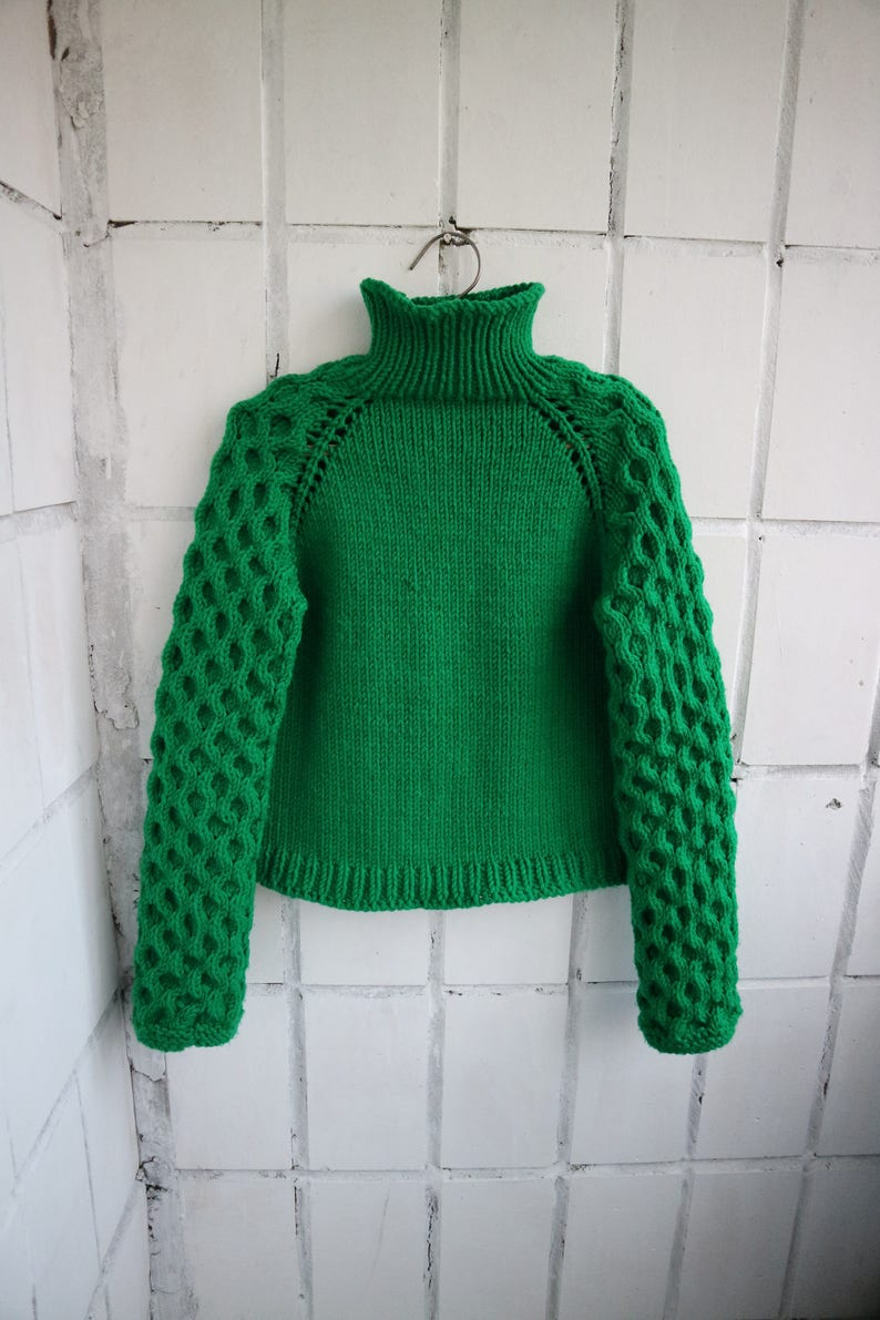 9f5ae75097b Cable Knit Sweater St. Patrick s day Oversized Sweater