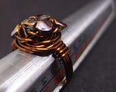 Bronze colored copper wir...