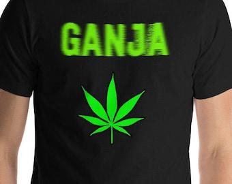 dc82bfe80 Blurry And Fading GANJA Weed T-Shirt Cool Cannabis Ganja Neon Herb Tee