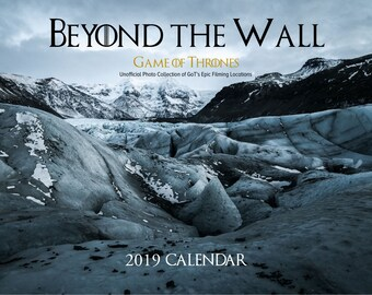 Game of Thrones Real Filming Locations 2019 Wall Calendar | Landscape Calendar | GoT Fan Gift | Unique Gift | Christmas Gift | 2019 Planner