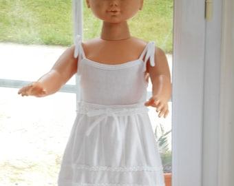 White summer dress in jersey knit