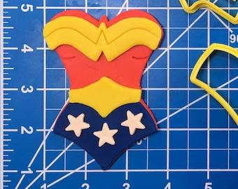 Fondant  Cookie Cutter  Clay  Baking  Gift  Birthday  Party Favor Baby shower Wonder women