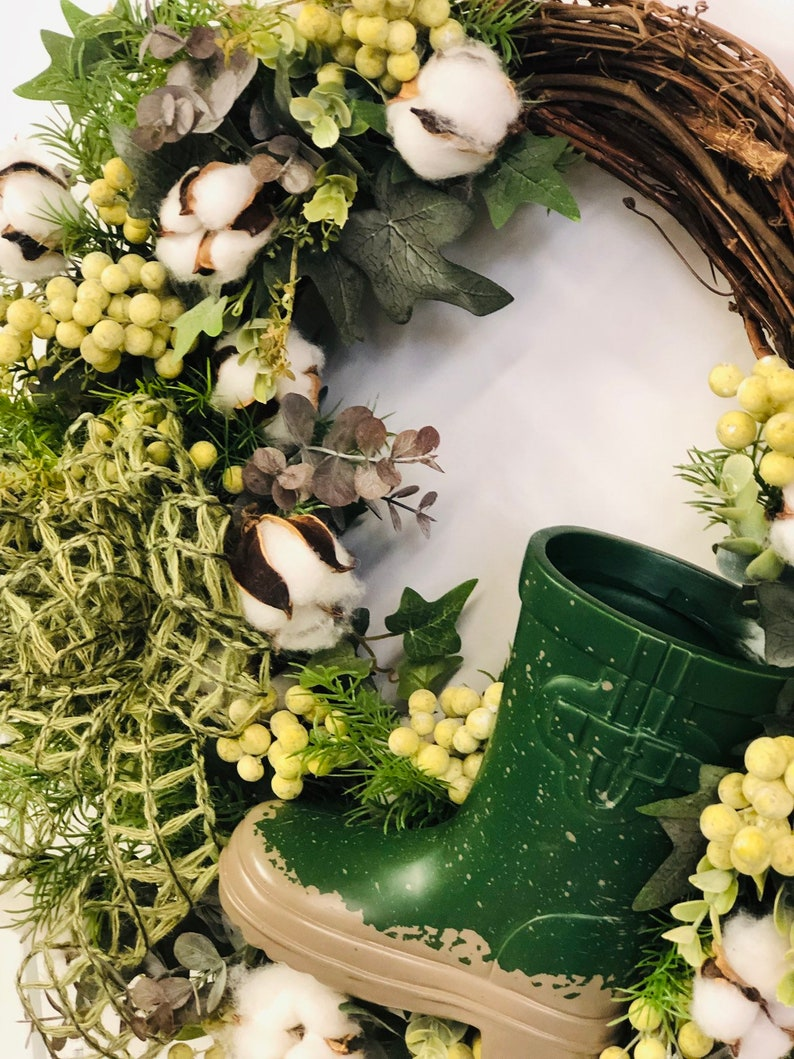 Summer Wreath-Front Door Wreath-All season-Summer Door Decor-Everyday Wreath-Everyday Door Wreath-Year Round Wreath-Neutral-Gardening wreath