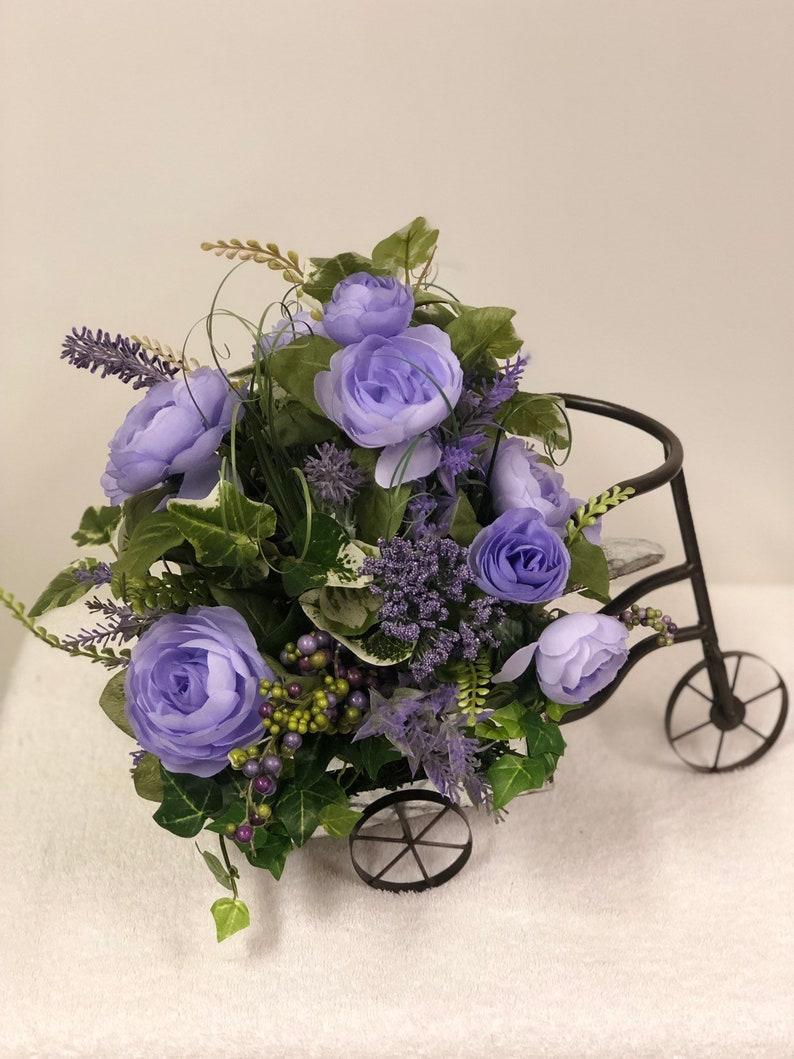 Table Centerpiece-Table Floral arrangement-Purple Centerpiece-Summer Centerpiece-Table Decor-Everyday Centerpiece-All season Centerpiece